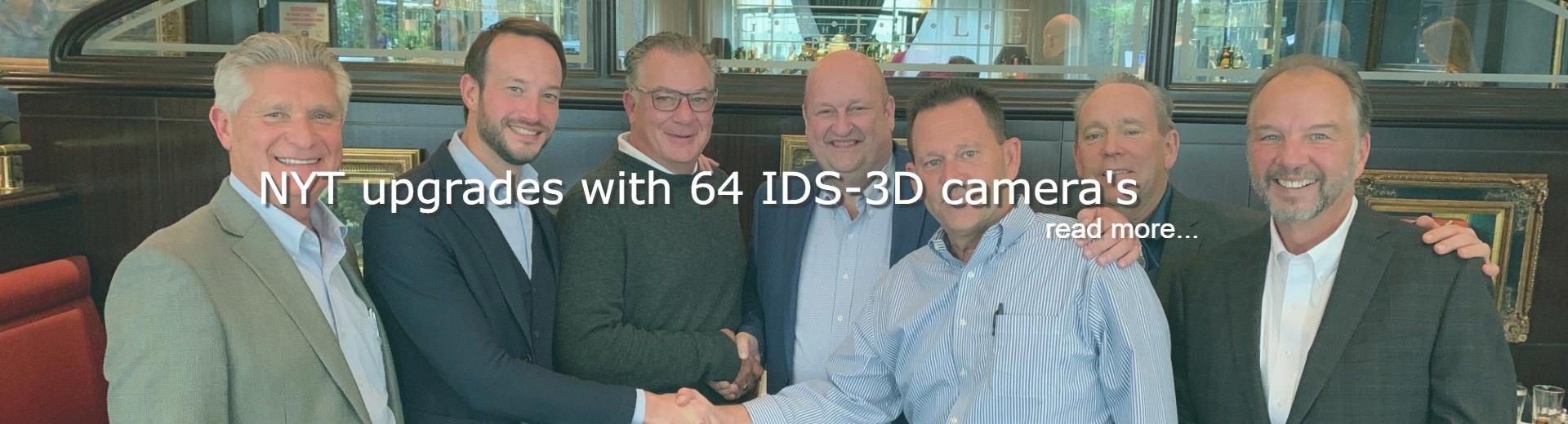 NYT upgrades with 64 IDS-3D camera's